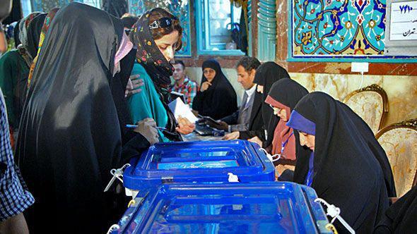 Iranische Frauen bei der Wahl, Foto: ©DW
