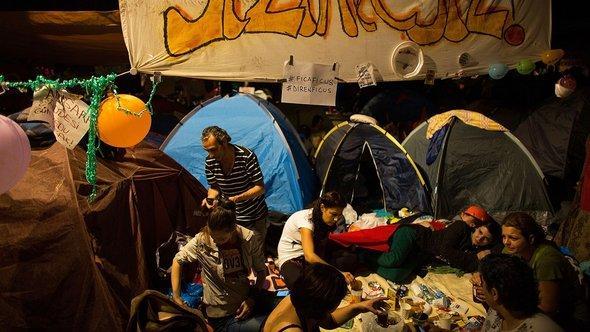 Aktivisten im Gezi-Park in Istanbul; Foto: Lam Yik Fei/Getty Images