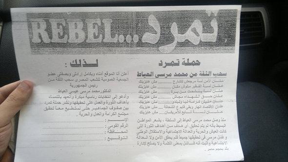 Tamarod-Unterschriftenliste; Foto: A. Hamdy/DW