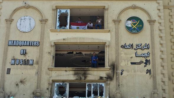 Gestürmte Zentrale der Muslimbruderschaft in Kairo; Foto: Khaled Desouki/AFP/Getty Images