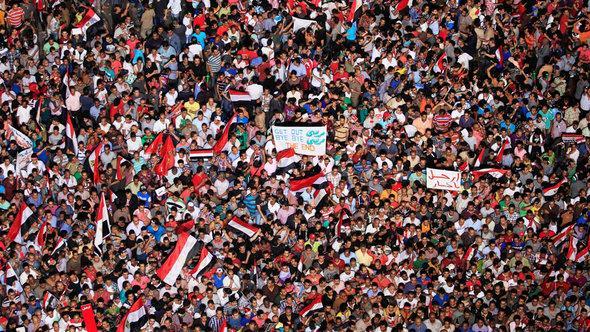 Demonstration gegen Mursi auf dem Kairoer Tahrir-Platz; Foto: Reuters