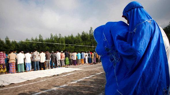 Frauen in Jogjakarta während des muslimischen Eid al-Adha-Festes; Foto: Getty Images