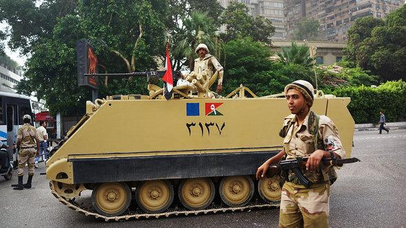 Armee im Stadtteil Giza in Kairo; Foto: Getty Images