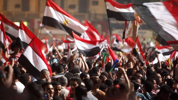 Jubel nach der Absetzung Mursis auf dem Tahrir-Platz in Kairo; Foto: Reuters