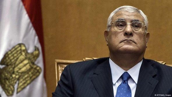 Übergangspräsident Adli Manour; Foto: AFP/Getty Images