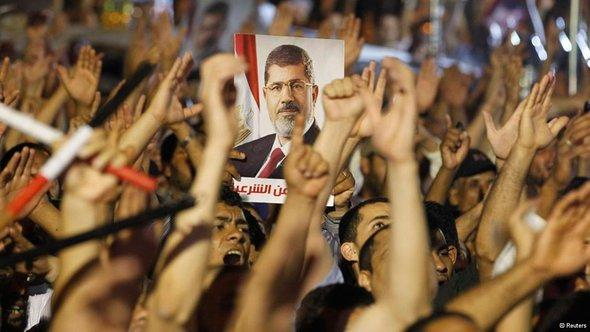 Demonstration von Mursi-Anhängern in Kairo; Foto: Reuters