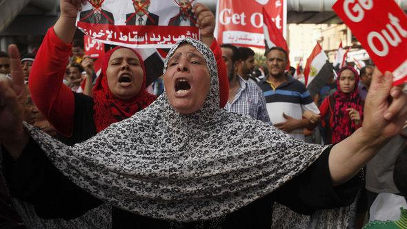 Demonstration gegen die Muslimbruderschaft in Kairo; Foto: Reuters