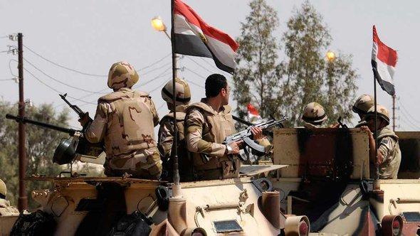 Ägyptische Soldaten auf dem Sinai; Foto: Reuters