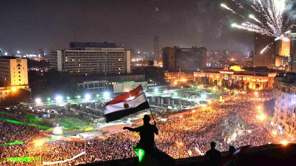 Gegner Mursis auf dem Tahrir-Platz in Kairo; Foto: AFP/Getty Images