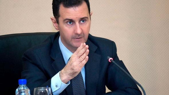 Syriens Präsident Baschar al-Assad; Foto: picture alliance/dpa