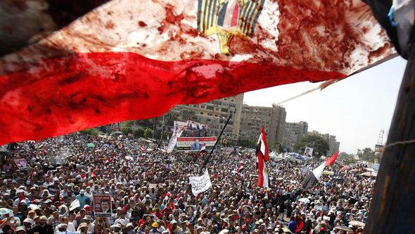 Demonstration von Mursi-Anhängern in Kairo, Foto: Reuters