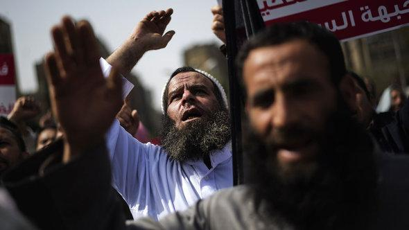 Salafisten protestieren in Kairo; Foto: AFP/Getty Images