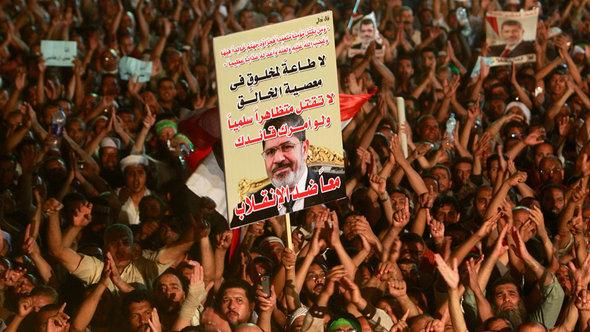 Pro-Morsi protesters in Cairo (photo: Reuters/Mohamed Abd El Ghany)