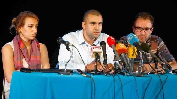 Press conference by the Tunisian Tamarod movement (photo: DW)