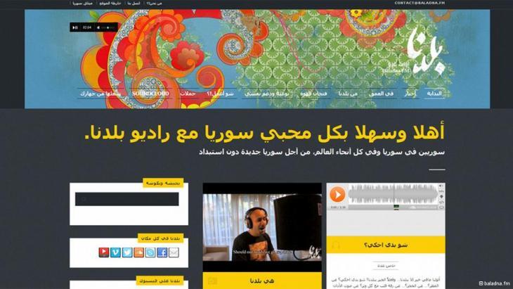 Screenshot http://baladna.fm/; Foto: baladna.fm