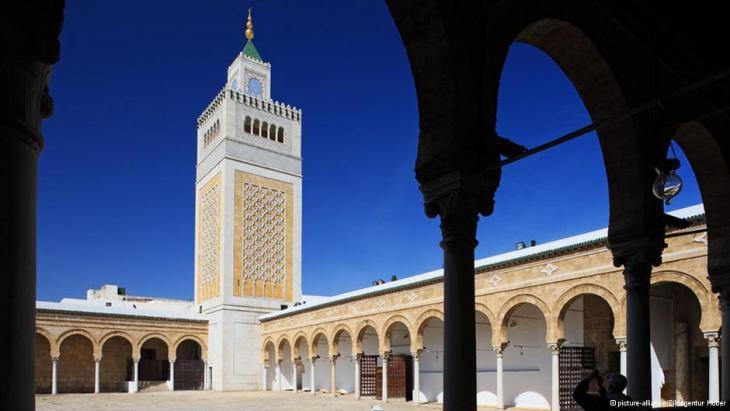 Ansicht der Zitouna-Moschee in Tunis; Foto: dpa