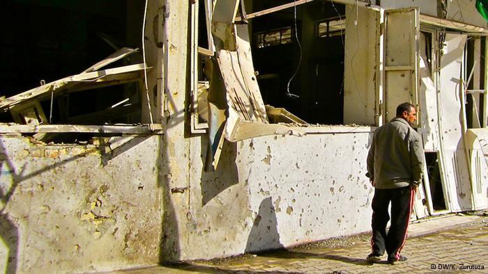 Kriegszerstörung in den Straßen Iraks; Foto: DW/K. Zurutuza