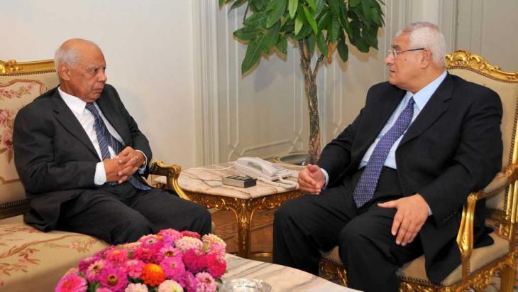 Ägyptischer Übergangspremier Beblawi (links) und Übergangspräsident Adli Mansur; Foto: Reuters