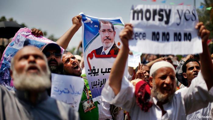 Unterstützer des gestürzten Präsidenten Mohammed Mursi demonstrieren am 12. Juli 2013 für seine Rückkehr; Foto: © Reuters/Suhaib Salem