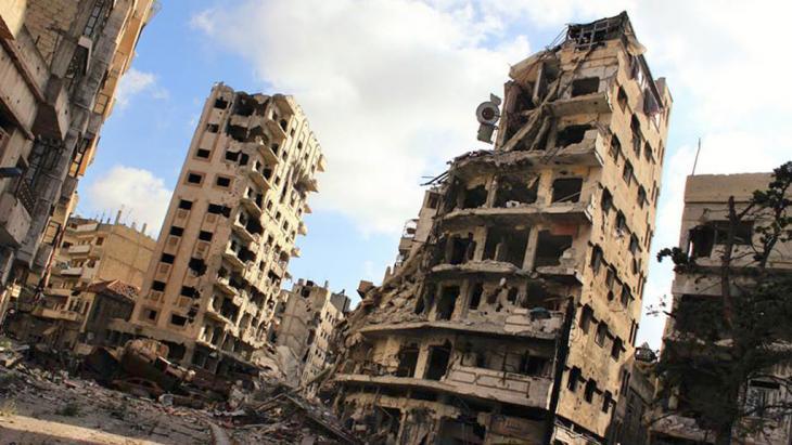 Zerstörte zentralsyrische Stadt Homs; Foto: AP
