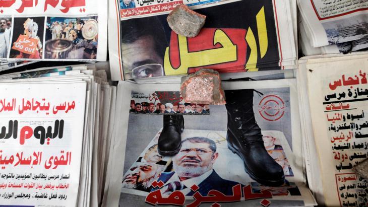 Zeitungen in Kairo; Foto dpa/picture-alliance