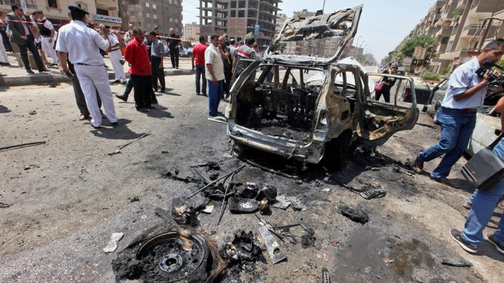 Bombenanschlag im Stadtteil Nasr City, Cairo, am 5. September 2013; Foto: picture-alliance/dpa