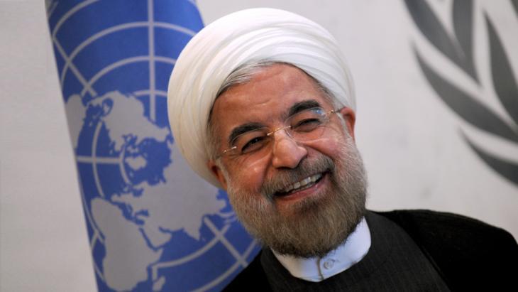 Irans Präsident Hassan Rohani bei den Vereinten Nationen in New York; Foto: picture-alliance/Newscom