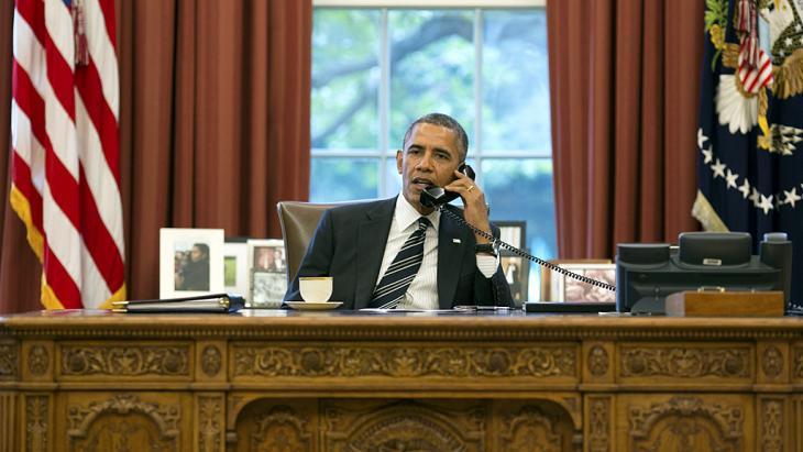 Telefonat Obamas mit Rohani; Foto: rtr