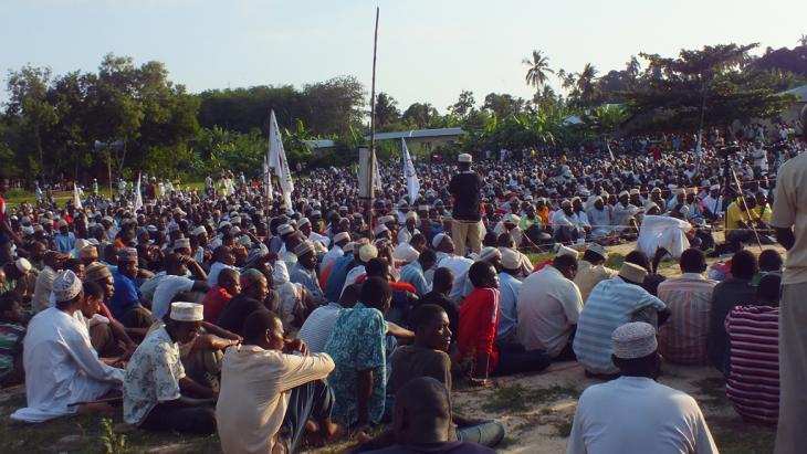 """Politische Veranstaltung der """"Uamsho"""" auf Sansibar; Foto: Mohammed Khelef/DW"""