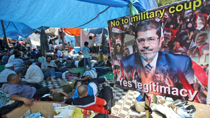 Protest camp set up by supporters of the Muslim Brotherhood in the Nasr City district of Cairo (photo: AP/picture alliance)