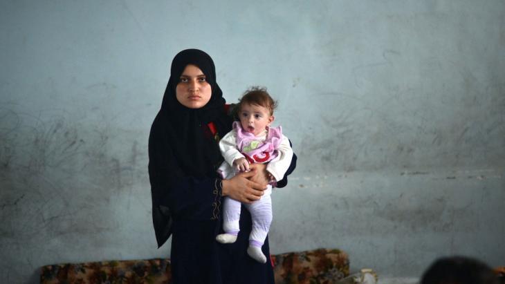 Flüchtlinge aus Aleppo; Foto: DIMITAR DILKOFF/AFP/Getty Images