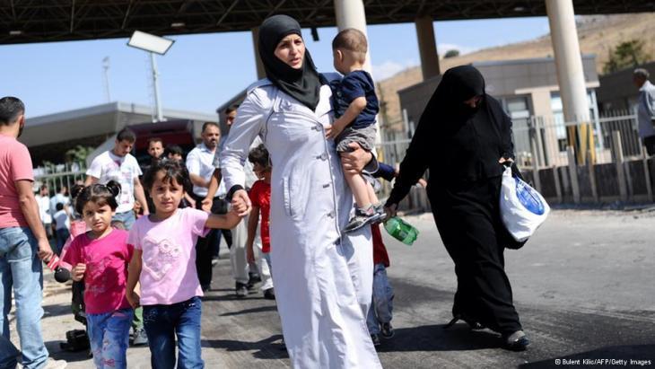 Syrische Flüchtlinge; Foto: