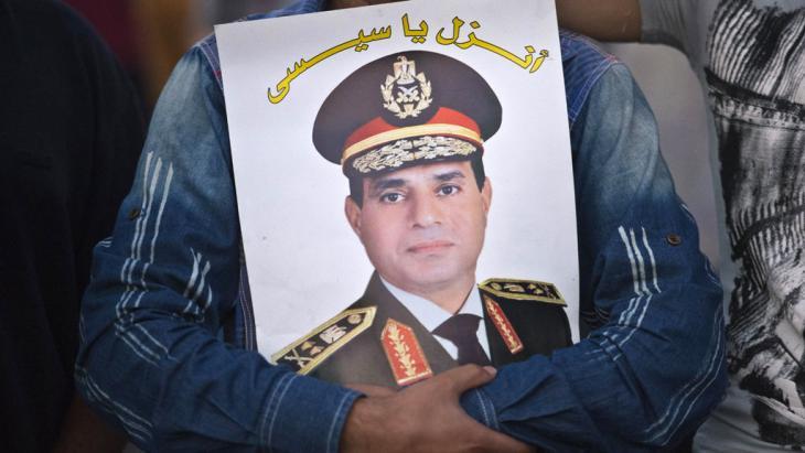 Personenkult um Ägyptens General Abdelfattah al-Sisi in Kairo; Foto: Khaled Desouki/AFP/Getty Images