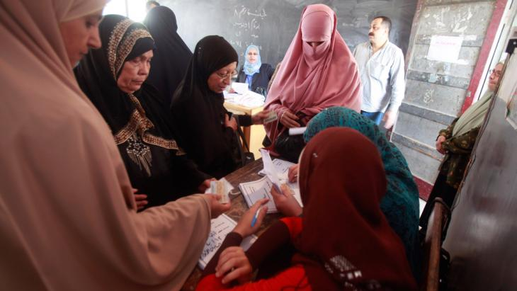 Ägypterinnen bei der Präsidentenwahl in Kairo; Foto: Reuters