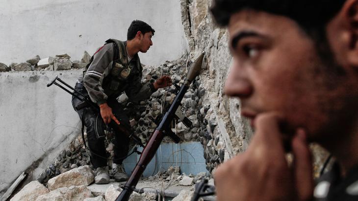 Rebellenkämpfer in Aleppo; Foto: Javier Manzano/AFP/Getty Images