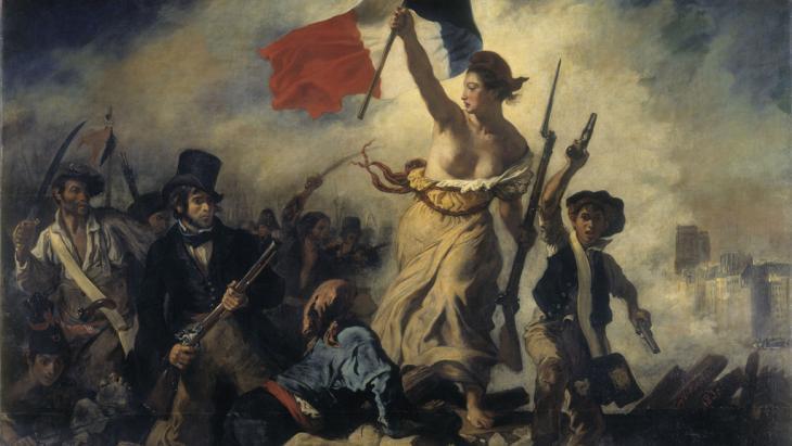 Eugène Delacroix' Liberty Leading the People, 1830 (Quelle: DW)