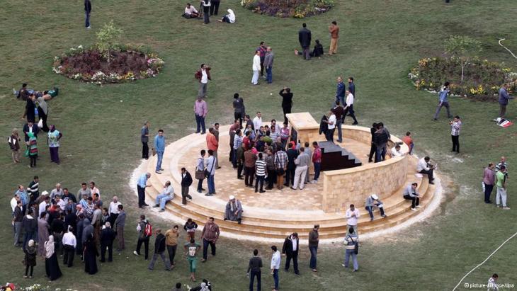 Denkmal für die bei den Protesten gestorbenen Menschen auf dem Tahrir Platz, Kairo; Foto: picture-alliance/dpa