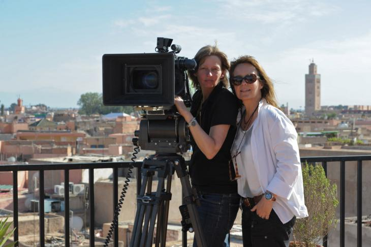 Caroline Link (rechts) mit Kamerafrau Bella Halben; Foto: © Ascot Elite