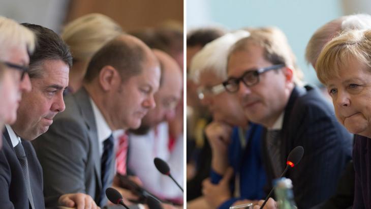 Koalitionsgespräche zwischen CDU und SPD in Berln; Foto: JOHANNES EISELE/AFP/Getty Images