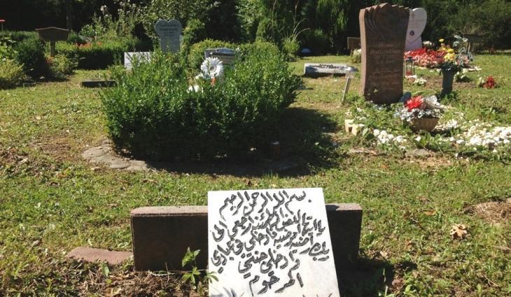 Muslimische Grabfelder auf einem Friedhof in Hessen; Foto: Canan Topçu
