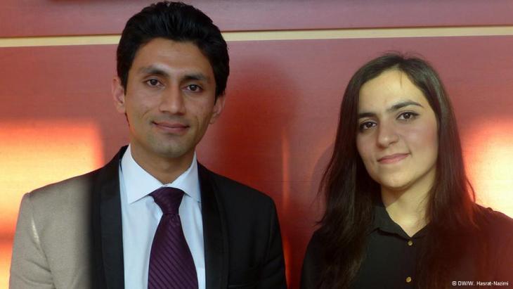 Jamshed Haidery (li.) und Zarifa Jalali; Foto: DW/Hasrat-Nazimi