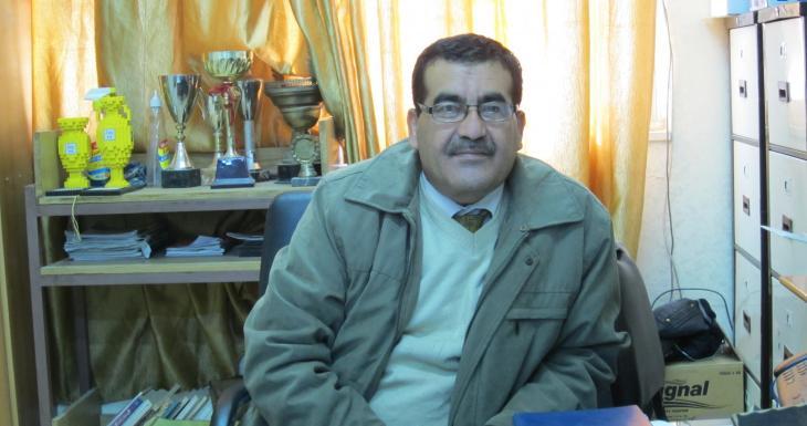 Nawaz Titi, Direktor der Al-Mothanna-Schule in Irbid ; Foto: Claudia Mende