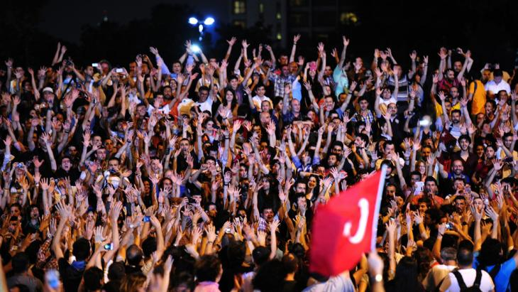 Proteste am Gezi-Park; Foto: picture-alliance/dpa