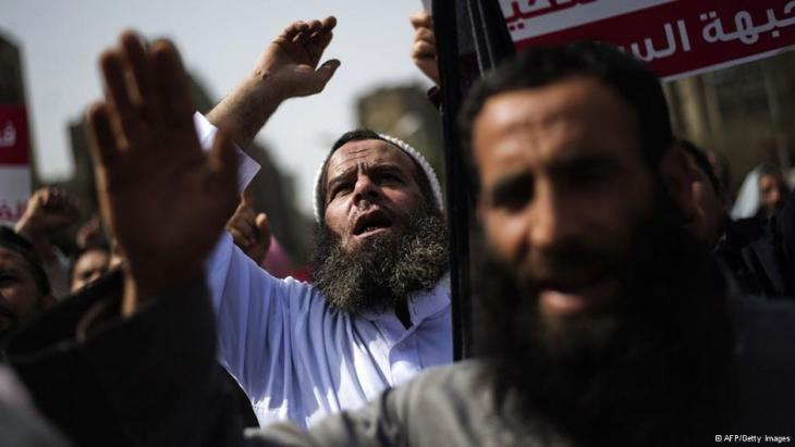 Salafists demonstrating in Cairo on 1 March 2013 (photo: AFP/Getty Images)