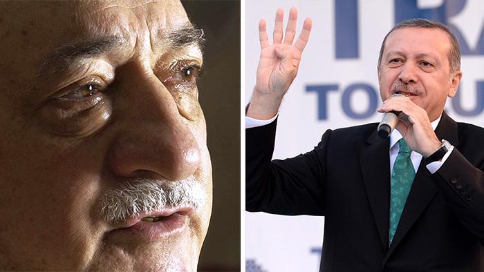 Fotomontage Gülen/Erdogan; Foto: picture-alliance/dpa/AP