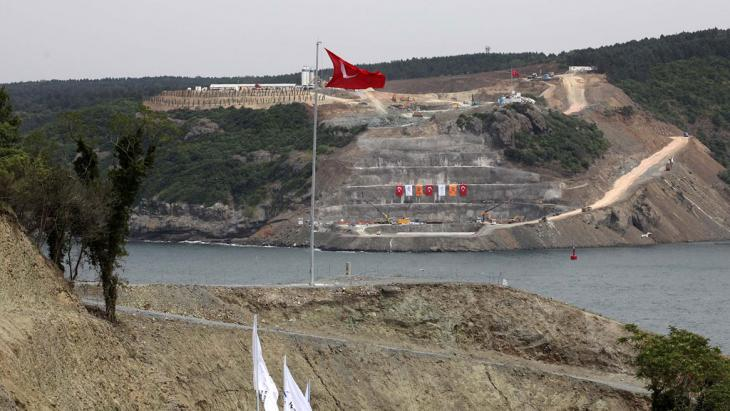 Bau der dritten Bosporusbrücke; Foto: MIRA/AFP/Getty Images