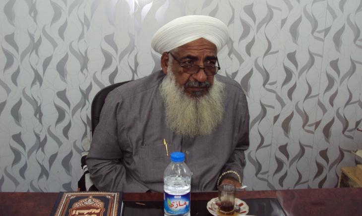 Der ermordete Gründer der Protestbewegung in Falludscha, Scheich Khaled Hamood al-Jumaili; Foto: Birgit Svensson