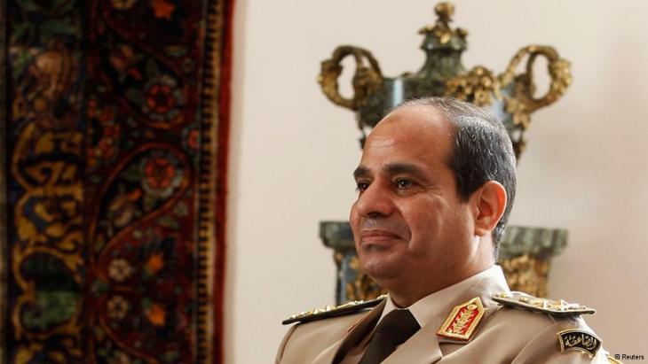 Ägyptens Armeechef al- Sisi; Foto: Reuters