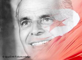Der tunesische Politiker Habib Bourguiba gilt als Begründer des mondernen Tunesien; Foto: dpa/DW-Fotomontage