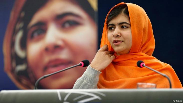 Malala spricht vor dem Europaparlament in Straßburg, Sacharow Preis 2013, Foto: REUTERS/Vincent Kessler